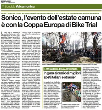 Sonico, l'evento dell'estate camuna è con la Coppa Europa di Bike Trial