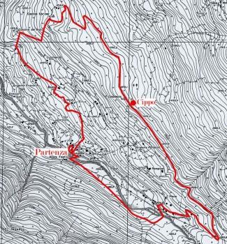 Mappa sentiero F.Troletti