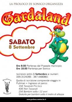 Gita a Gardaland - Volantino