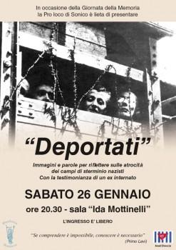 """""""Deportati"""" Immagini e parole per riflettere"""