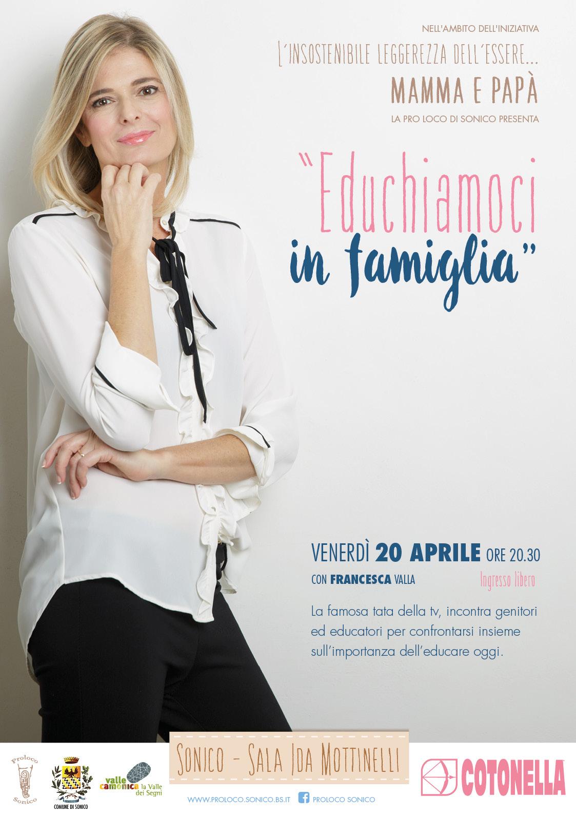 """""""Educhiamoci in famiglia"""" con Francesca Valla"""