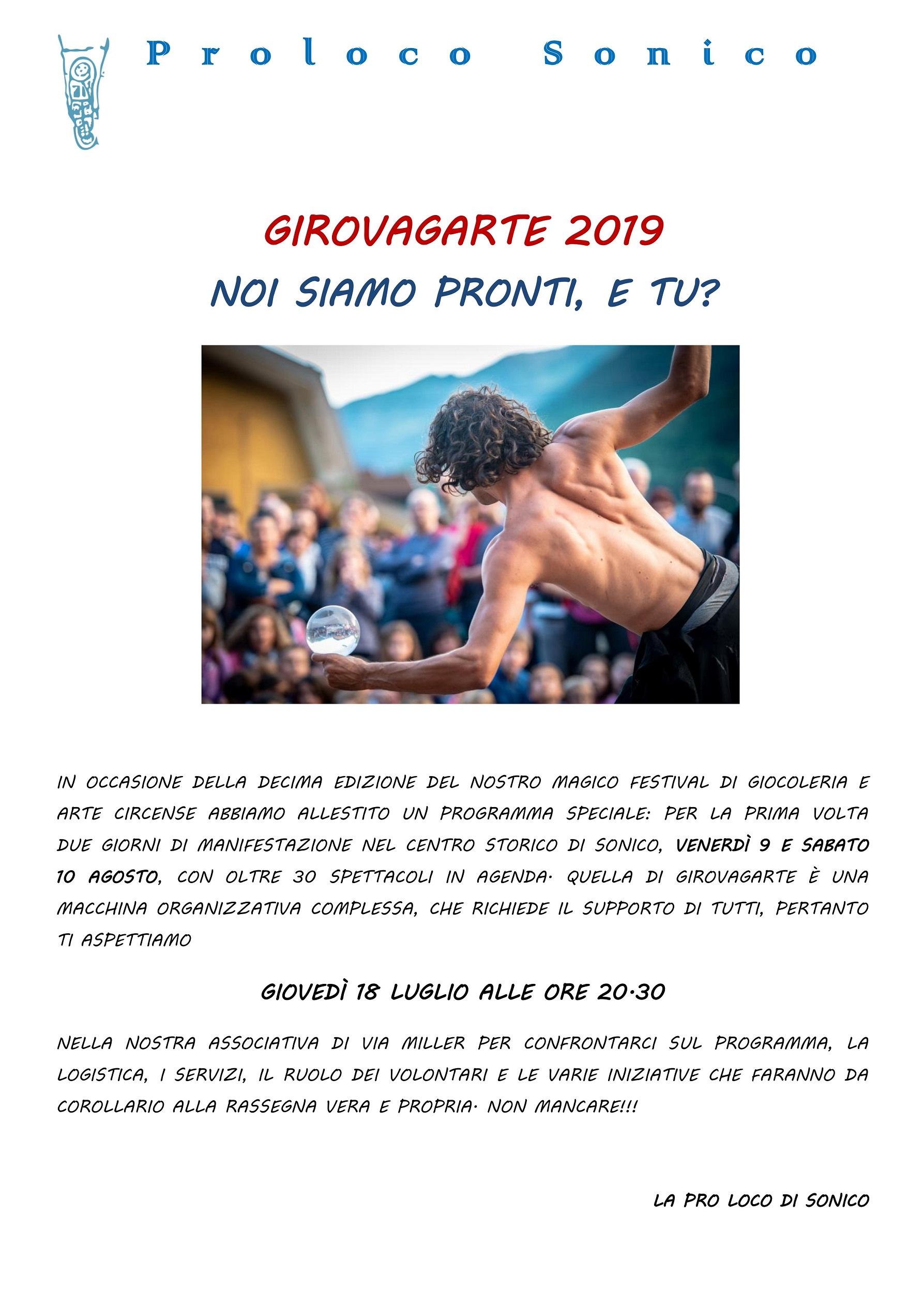 AVVISO IMPORTANTE GirovagArte 2019