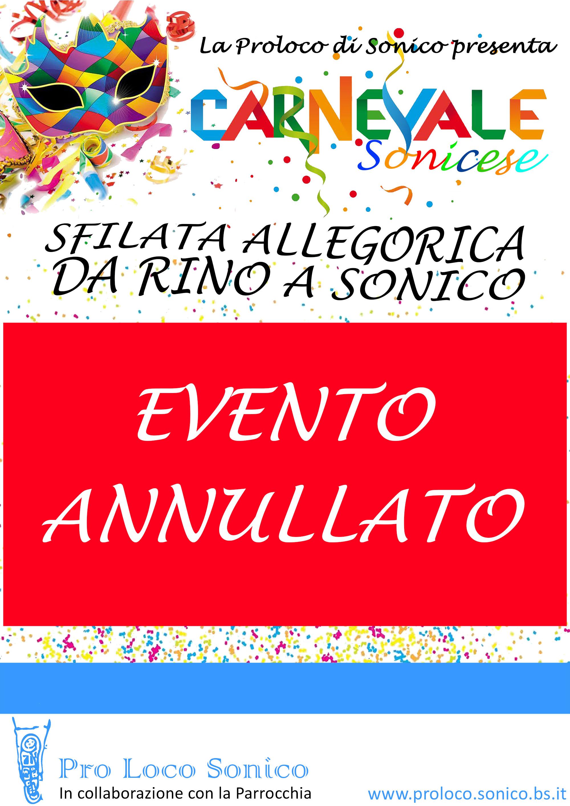 Carnevale 2020 – ANNULLATO!